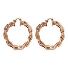 Online Exclusive - Patterned Hoop Earrings in 10kt Rose Gold