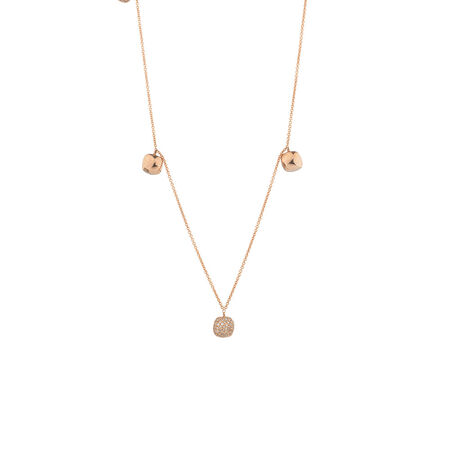 Pendant with Diamonds in 10kt Rose Gold