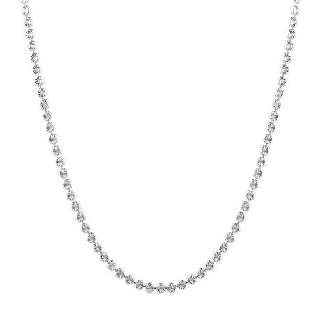 """45cm (18"""") Fancy Necklace in Sterling Silver"""