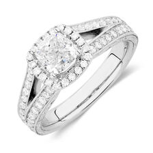 Sir Michael Hill Designer GrandAmoroso Engagement Ring with 1 7/8 Carat TW of Diamonds in 14kt White Gold
