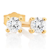 Classic Stud Earrings with 1/10 Carat TW of Diamonds in 10kt Yellow Gold
