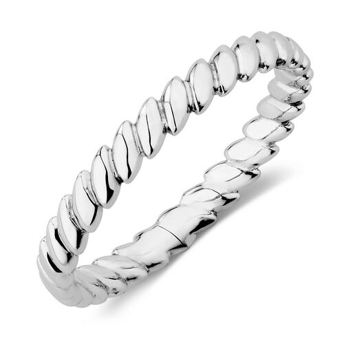Patterned Ring in Sterling Silver