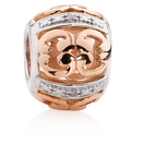 10kt Rose Gold & Sterling Silver Charm
