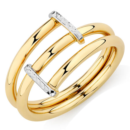 Wrap Ring with 10kt Yellow & White Gold