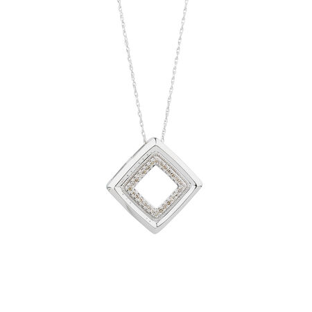Pendant with 1/8 Carat TW of Diamonds in 10kt White Gold