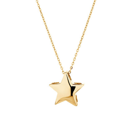 Mini Star Necklace in 10kt Yellow Gold