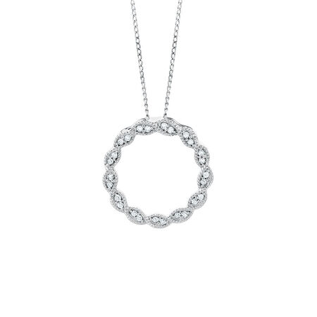 Pendant with 1/10 Carat TW of Diamonds in 10kt White Gold