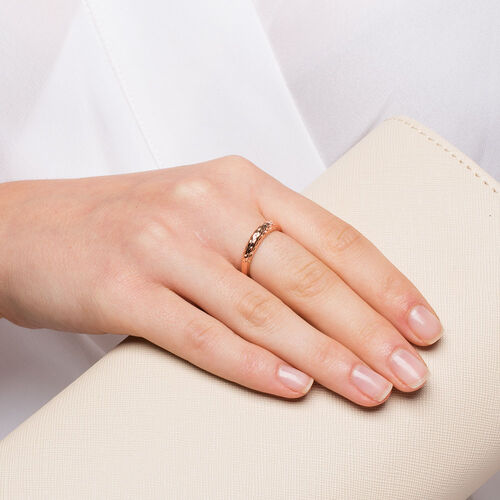 Dome Stacker Ring in 10kt Rose Gold