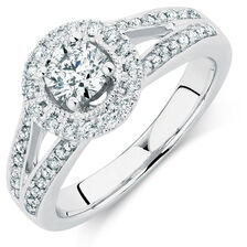 Online Exclusive - Engagement Ring with 7/8 Carat TW of Diamonds in 14kt White Gold