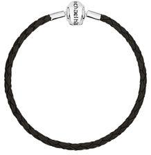 """Black Leather Double Length 38cm (15"""") Charm Bracelet"""