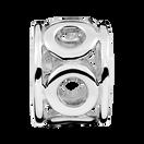 Sterling Silver Circle Pattern Charm