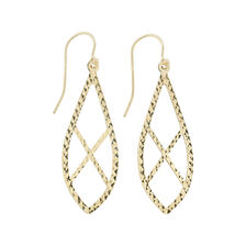 Online Exclusive - Patterned Drop Earrings in 10kt Yellow Gold