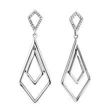 Geometric Drop Earrings with 1/15 Carat TW ofDiamonds in Sterling Silver