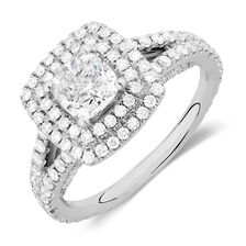 Sir Michael Hill Designer GrandArpeggio Engagement Ring with 2 Carat TW of Diamonds in 14kt White Gold