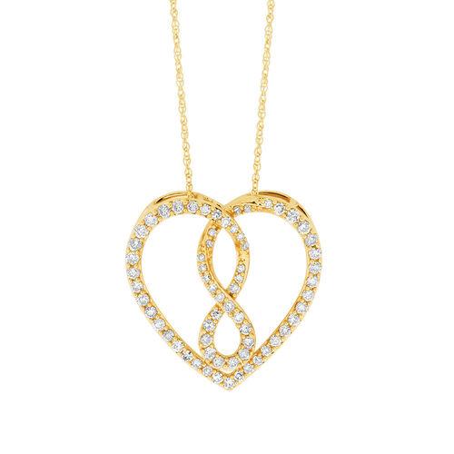 Infinitas Pendant with 1/2 Carat TW of Diamonds in 10kt Yellow Gold