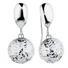 Drop Earrings in 10kt White Gold