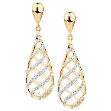 Drop Earrings with 1/3 Carat TW of Diamonds in 10kt Yellow Gold