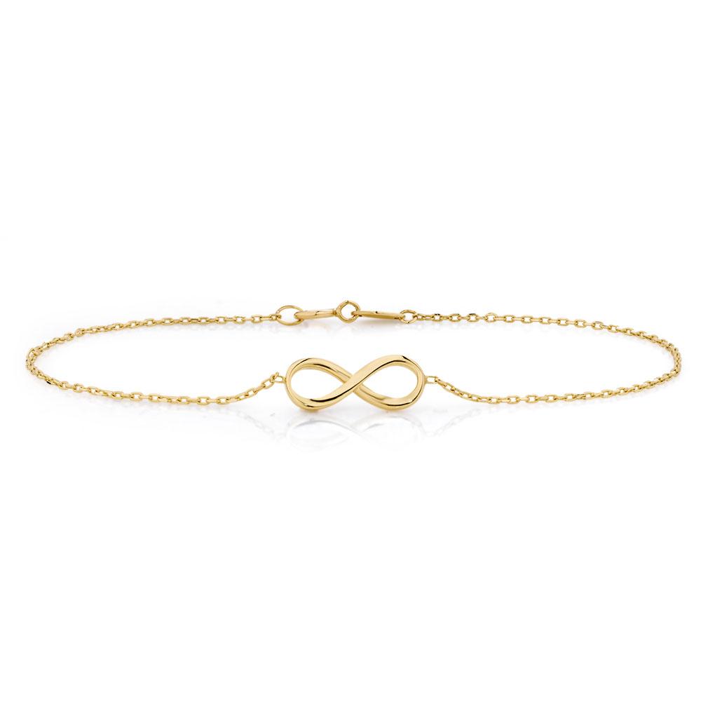 Infinity bracelet in 10kt yellow gold biocorpaavc