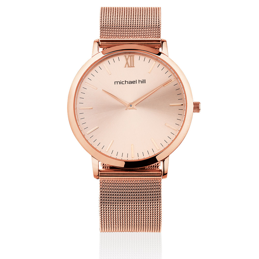 Ladies mesh bracelet watch in stainless steel for Stainless steel watch
