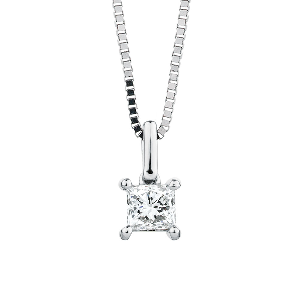 Pendant with a 12 carat diamond in 18kt white gold solitaire pendant with a 12 carat diamond in 18kt white gold aloadofball Gallery