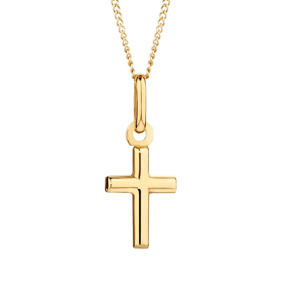 cross pendant in 10kt yellow gold