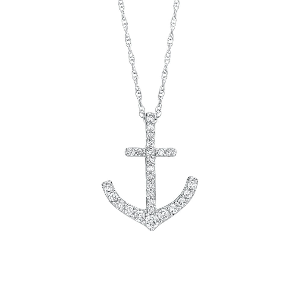 Pendant with 16 carat tw of diamonds in 10kt white gold aloadofball Choice Image