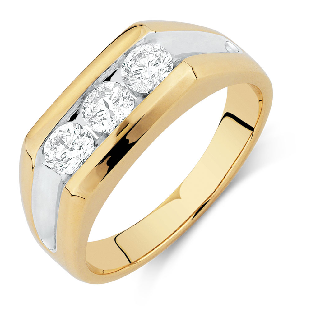 Men\'s Ring with 1 Carat TW of Diamonds in 10kt Yellow Gold
