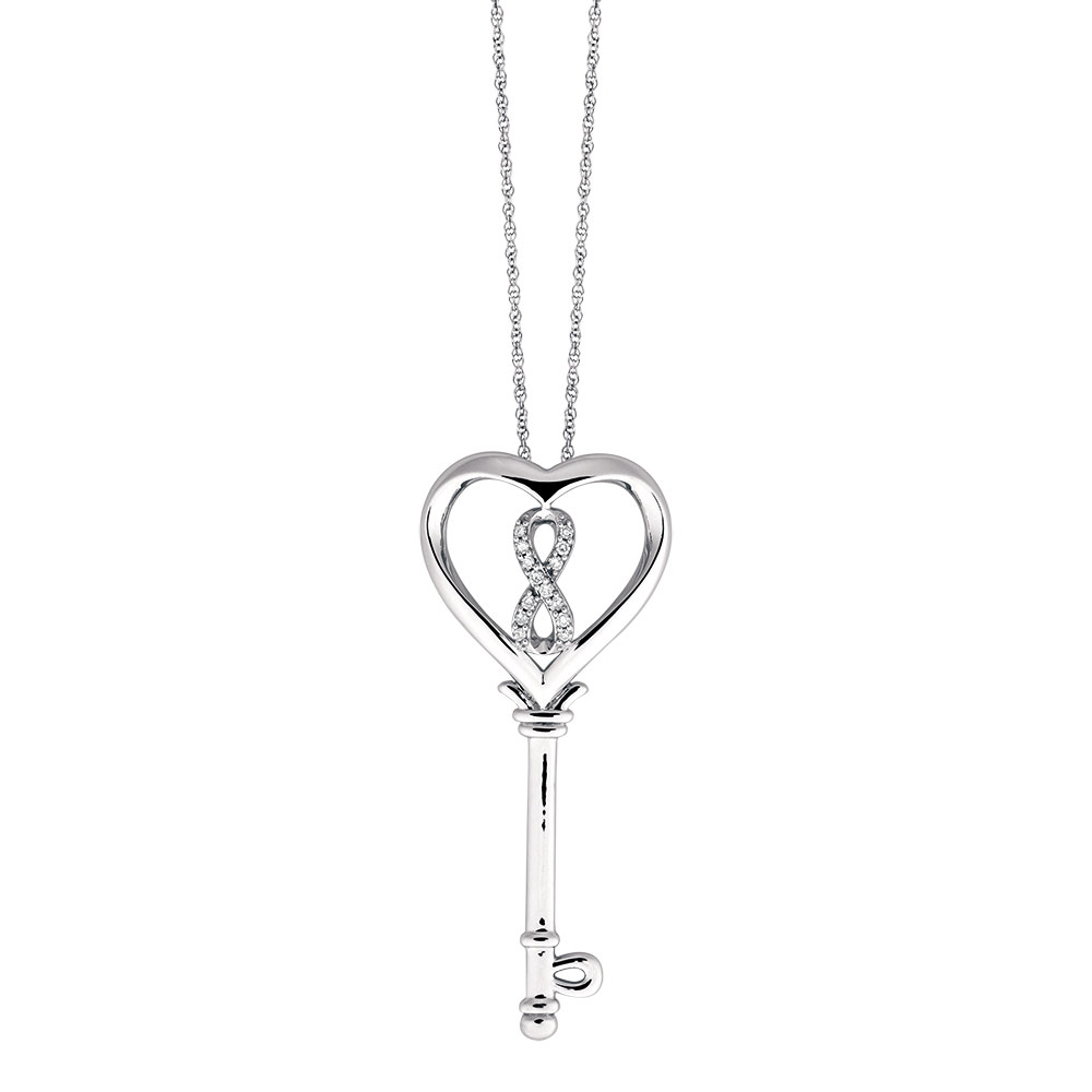 Inifinitas pendant with 110 carat tw of diamonds in sterling silver mozeypictures Gallery