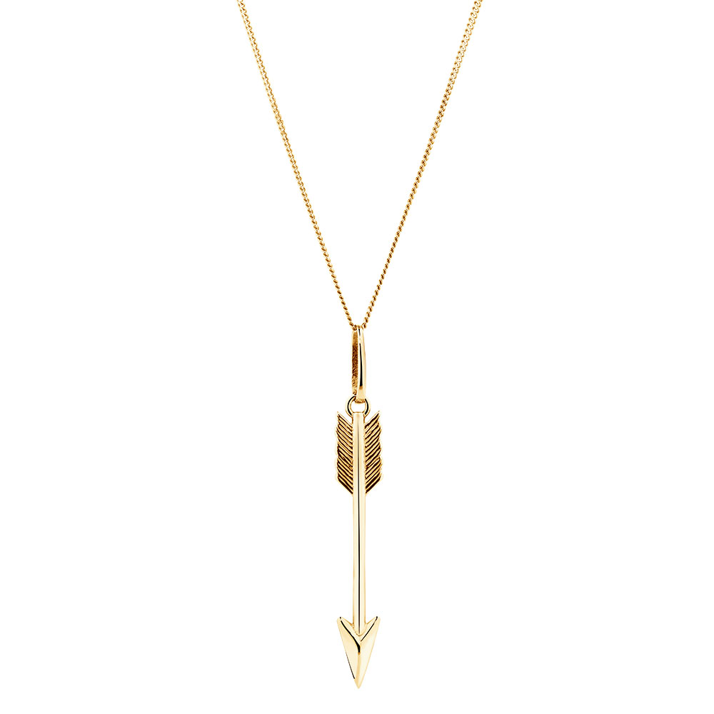 Arrow pendant in 10kt yellow gold aloadofball Gallery