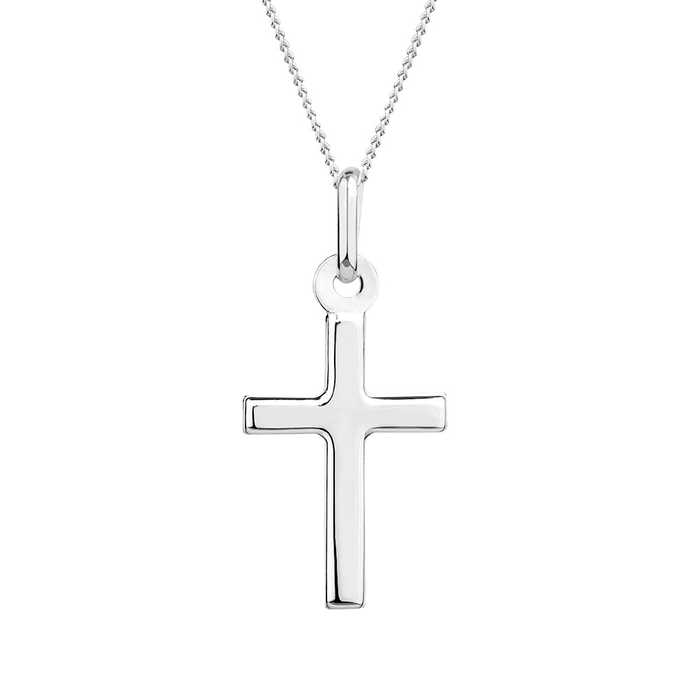 Cross pendant in 10kt white gold mozeypictures Gallery