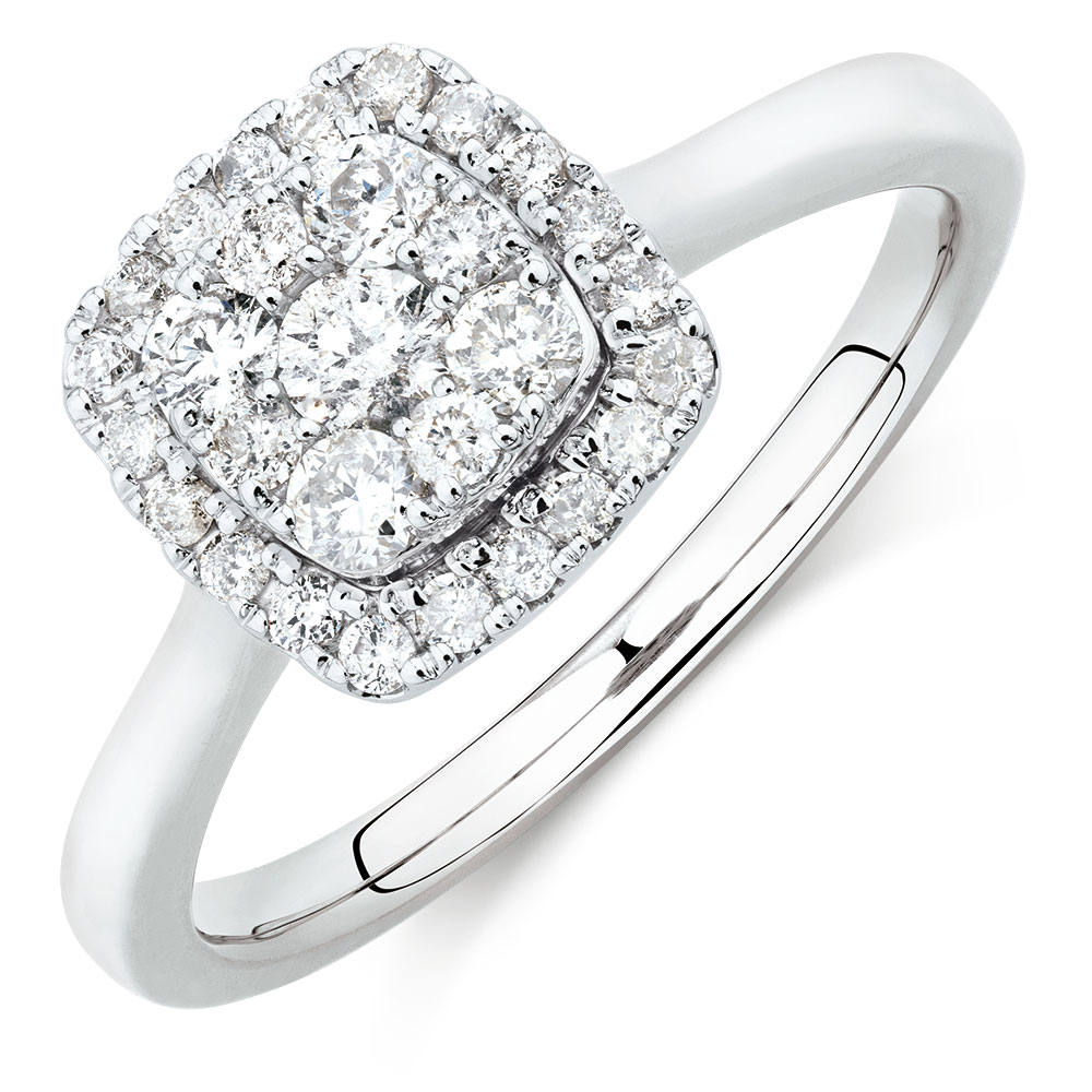 engagement ring with 1 2 carat tw of diamonds in 10kt. Black Bedroom Furniture Sets. Home Design Ideas