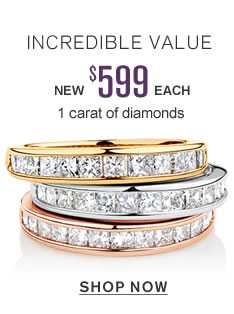 Incredible Value | New $599 each 1 carat of diamonds | shop now
