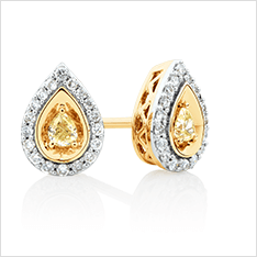 Natural Coloured Diamonds - Earrings
