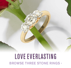 Browse three stone rings