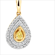 Natural Coloured Diamonds - Pendants