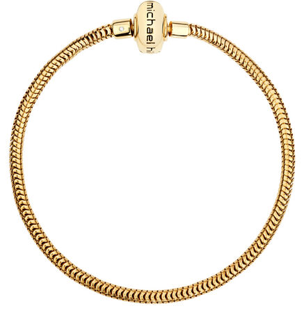 "Diamond Set & 10kt Yellow Gold 17cm (7"") Charm Bracelet"
