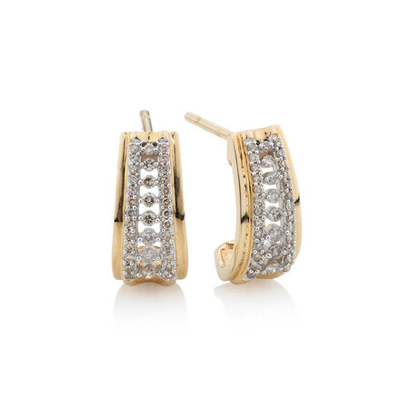 Online Exclusive - Earrings with 0.3 Carat TW of Diamonds in 10kt Yellow Gold