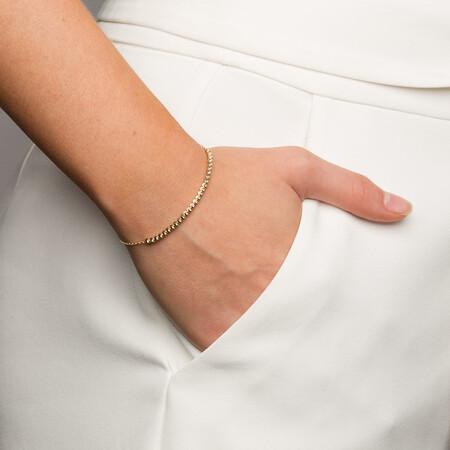 Adjustable Beaded Bracelet in 10kt Yellow Gold