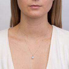 Pendant with Tanzanite & Diamonds in 10kt White Gold