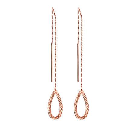 Geometric Teardrop Earrings in 10kt Rose Gold