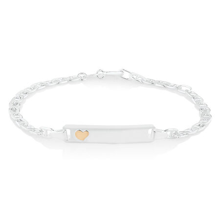 "16cm (6"") Child's ID Bracelet in Sterling Silver"