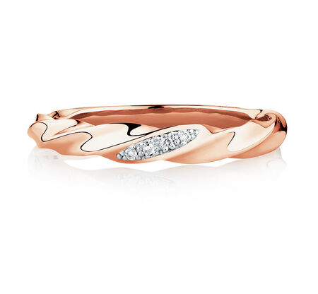 Ring with Diamonds in 10kt Rose Gold