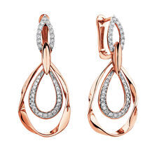 Drop Earrings with 1/4 Carat TW of Diamonds in 10kt Rose Gold