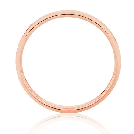 2mm Wedding Band in 10kt Rose Gold