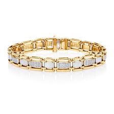 Bracelet with 1/2 Carat TW of Diamonds in 10ct Yellow Gold