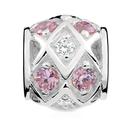 Pink & White Cubic Zirconia Charm