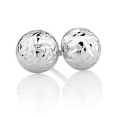 7mm Stud Earrings in 10kt White Gold