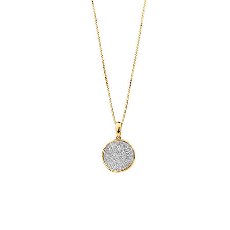 Circle Pendant With 0.20 TW Of Diamonds In 10kt Yellow Gold