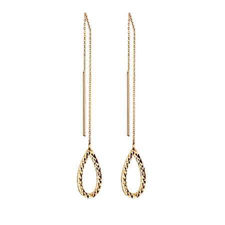 Geometric Teardrop Earrings in 10kt Yellow Gold