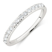 Wedding Band with 1/3 Carat TW of Diamonds in 14kt White Gold